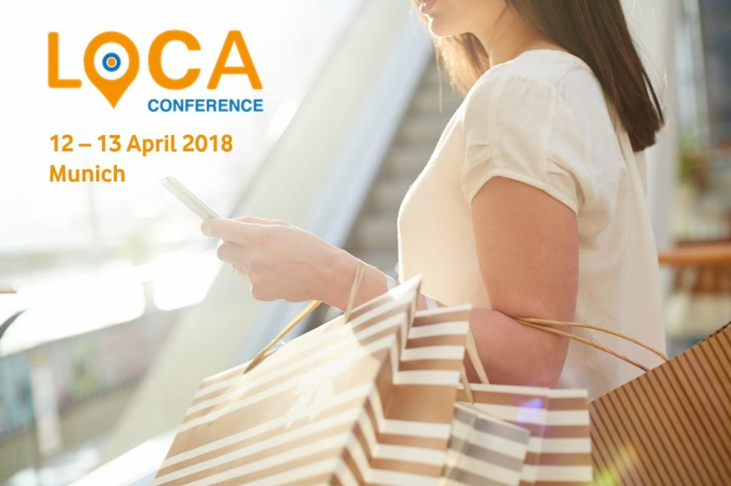 Woman with Bags and Smartphone, Loca conference