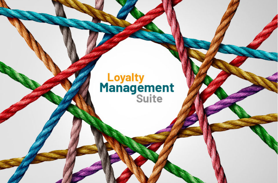 Coloured Strings with Loyalty Management Suite in the middle